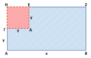 Τετράγωνο μέσα σε ορθογώνιο.